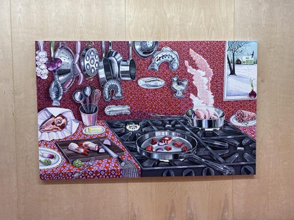 Nikki Maloof The red interior