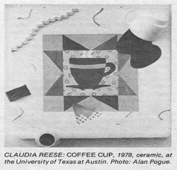 "Claudia Rees ""Coffee Cup,"" 1978."