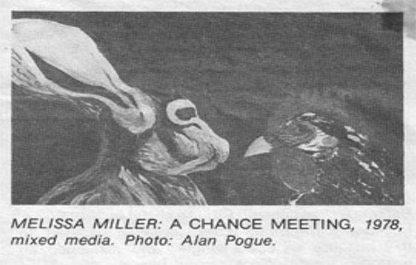 """""""A Chance Meeting,"""" Melissa Miller, 1978."""
