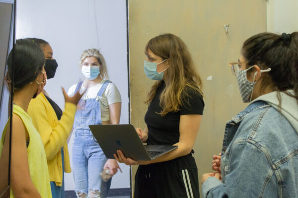 Claudia Bitran directs students at SMU in Dallas