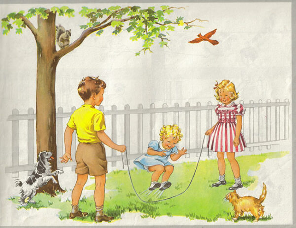 Dick and Jane, characters from a series of childhood reading books first published in the 1950s