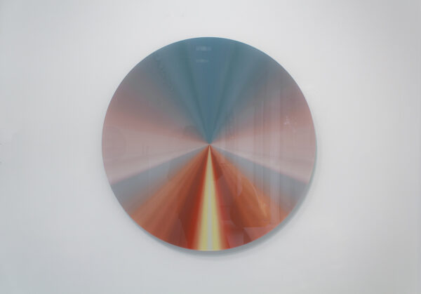 Lyès Olivier Sidhoum, Sweet Inner Sunset, crystal acrylic, color pigments and aluminum, on view at Markowicz Fine Art