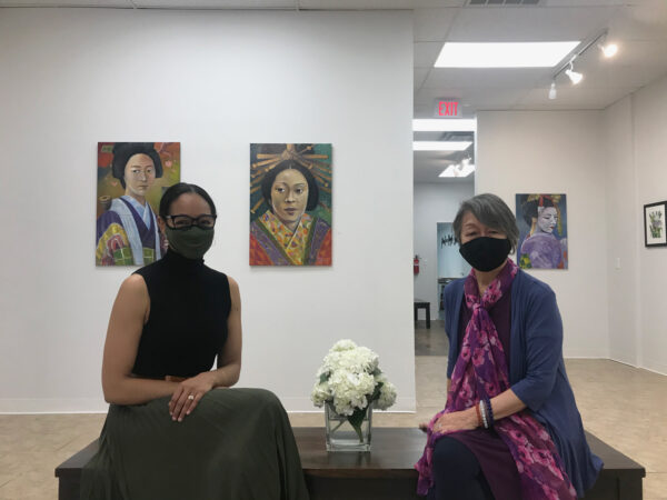 Pencil On Paper Gallery Owner Dr. Valerie Gillespie and Kumiko Johnson
