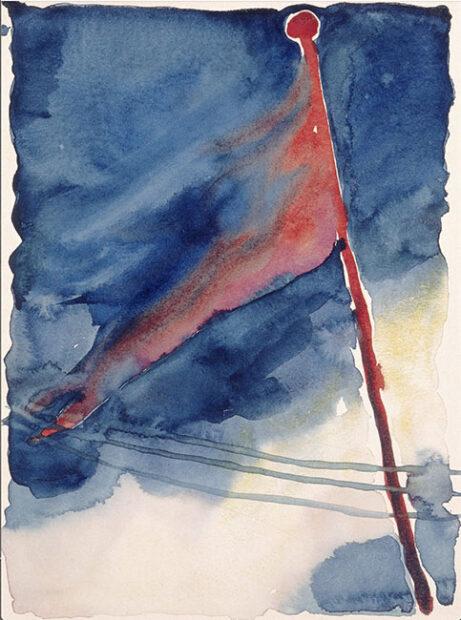 """The Flag"" by Georgia O'Keeffe Credit...2016 Georgia O'Keeffe Museum/"