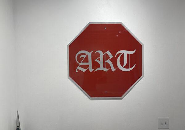 ART Stop Sign II, 2021 Industrial aluminum, diamond grade reflective vinyl