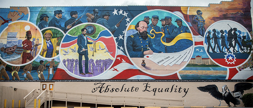 Absolute Equality, a mural by Houston artist Reginald Adams-Photo Credit Montinique Monroe