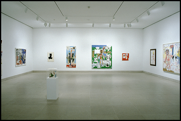 Dallas Collects Jean-Michel Basquiat, installation, January 31-March 28, 1993,