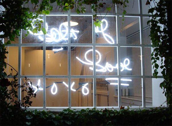 Rebecca Carter, Re-Reading the Love Letter, neon, November 2011
