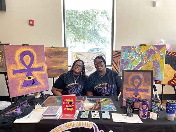 Rickale West's booth at the DeLuxe Theater, 5th Ward, Houston Juneteenth 2021