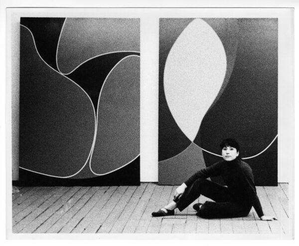 Virginia Jaramillo in her studio on Spring Street, New York City,1968.
