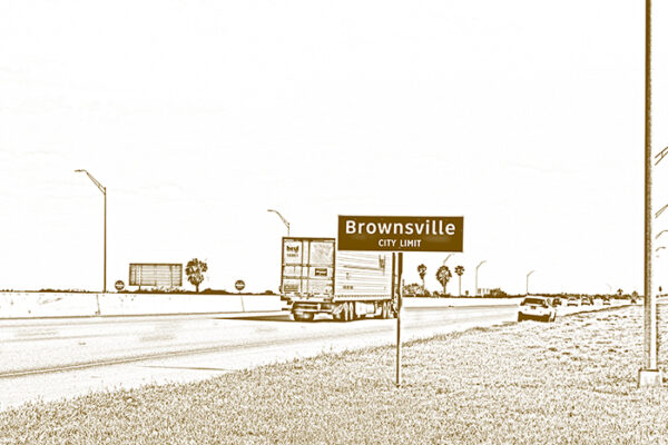Ethel Shipton, The Valley - RGV: Brownsville, 2021. Archival digital prints on Hahnemühle German Etching Matte paper.