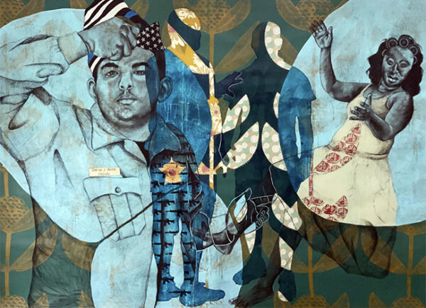 """DELITA MARTIN, """"Blue Is the Color We See Before We Die,"""" 2021"""