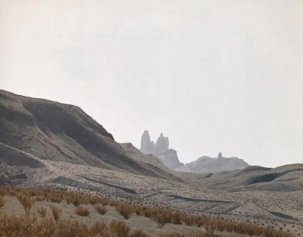 Dennis Blagg-Mule Ears Heat, 2020 Oil on canvas 17.25 x 21.25 (framed)