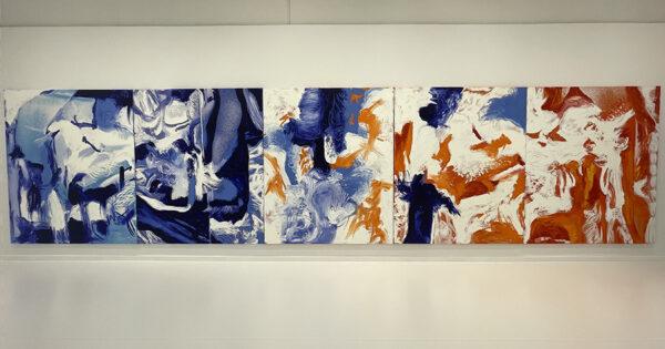 Donna Huanca's paintings at Ballroom Marfa
