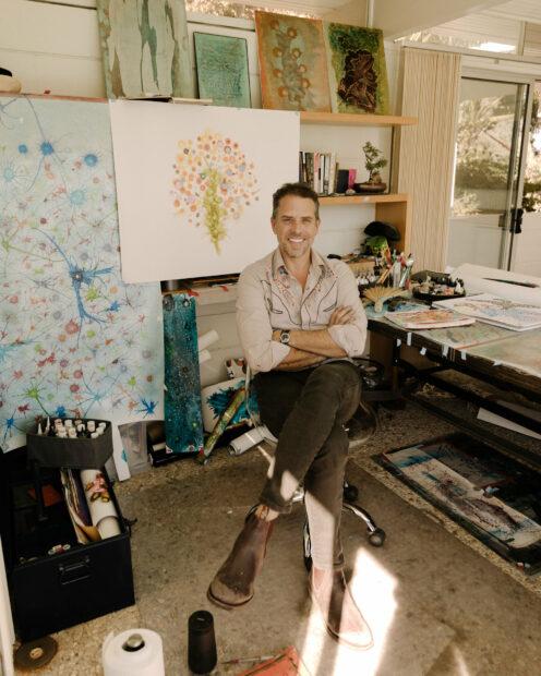 Hunter Biden in his art studio in California