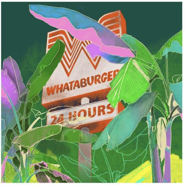 Joan Leigh Horne, Whataburger in the Wild, Digital Art