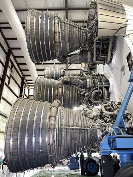 Saturn V Heavy Lift Vehicle booster rockets, Johnson Space Center, Houston