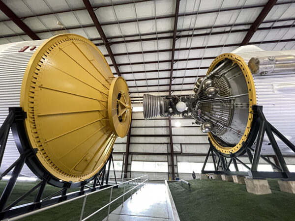 Saturn V Heavy Lift Vehicle, stage 3 booster section, Johnson Space Center, Houston