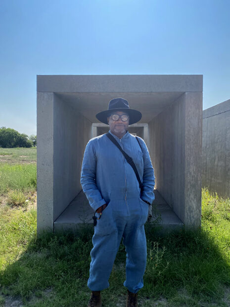 The author at 15 untitled works by Donald Judd