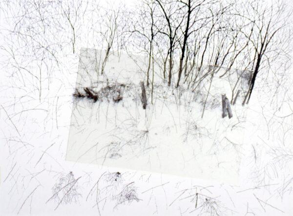 Artist Jeff Weiss drawing