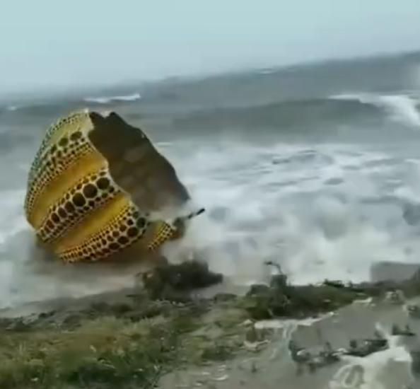 Kusama Pumpkin Typhoon