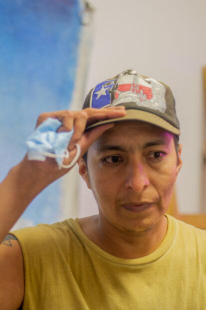 Vick Quezada in their studio