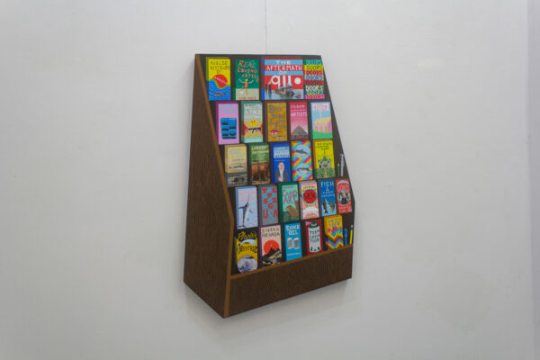 """Alexander Revier, """"Brochure Stand"""", on view at Ro2 Gallery in Dallas"""