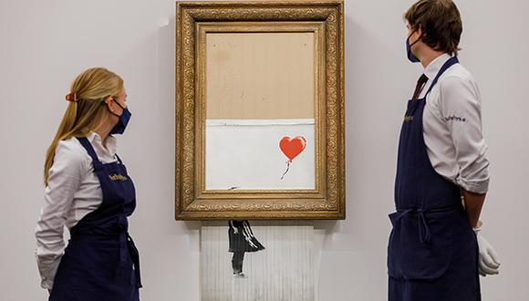 Banksy shredded artwork Love is in the Bin
