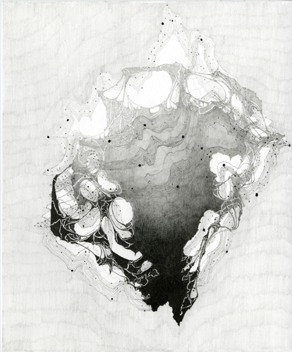 Atlas #19 Rubric Projection (Topography), Graphite on Paper,12