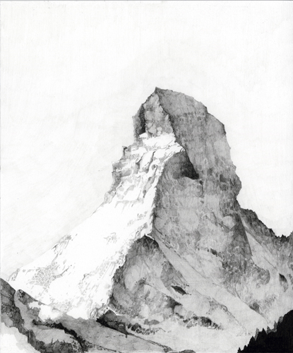 Atlas #4 The Matterhorn (For Bruno), Graphite on Paper, 12