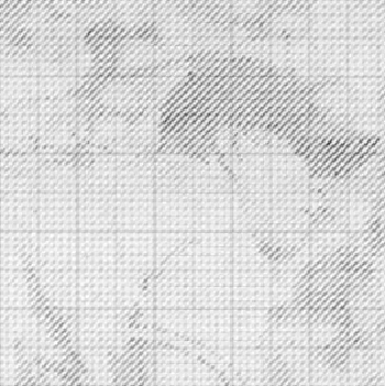Baltimore (Detail), Ewan Gibbs, 2007, Pencil on graph paper, 11 5/8 x 8 1/4 inches