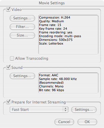 Compression settings sweet spot