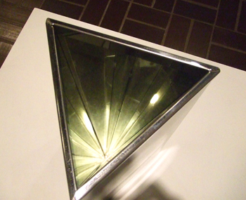 Robert Smithson, Mirror Vortex, 1965, aluminum with stainless steel overlay and mirror